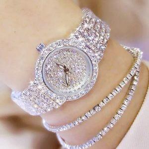 SALE silver rhinestone watch with two bracelets